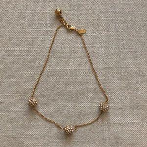 Kate Spade Lady Marmalade 3 ball necklace